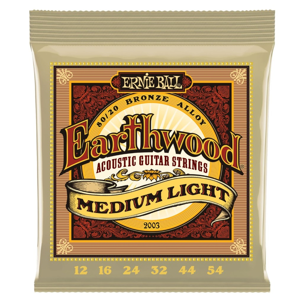 Ernie Ball 2003 Earthwood Medium Light 8020 Bronze Acoustic String