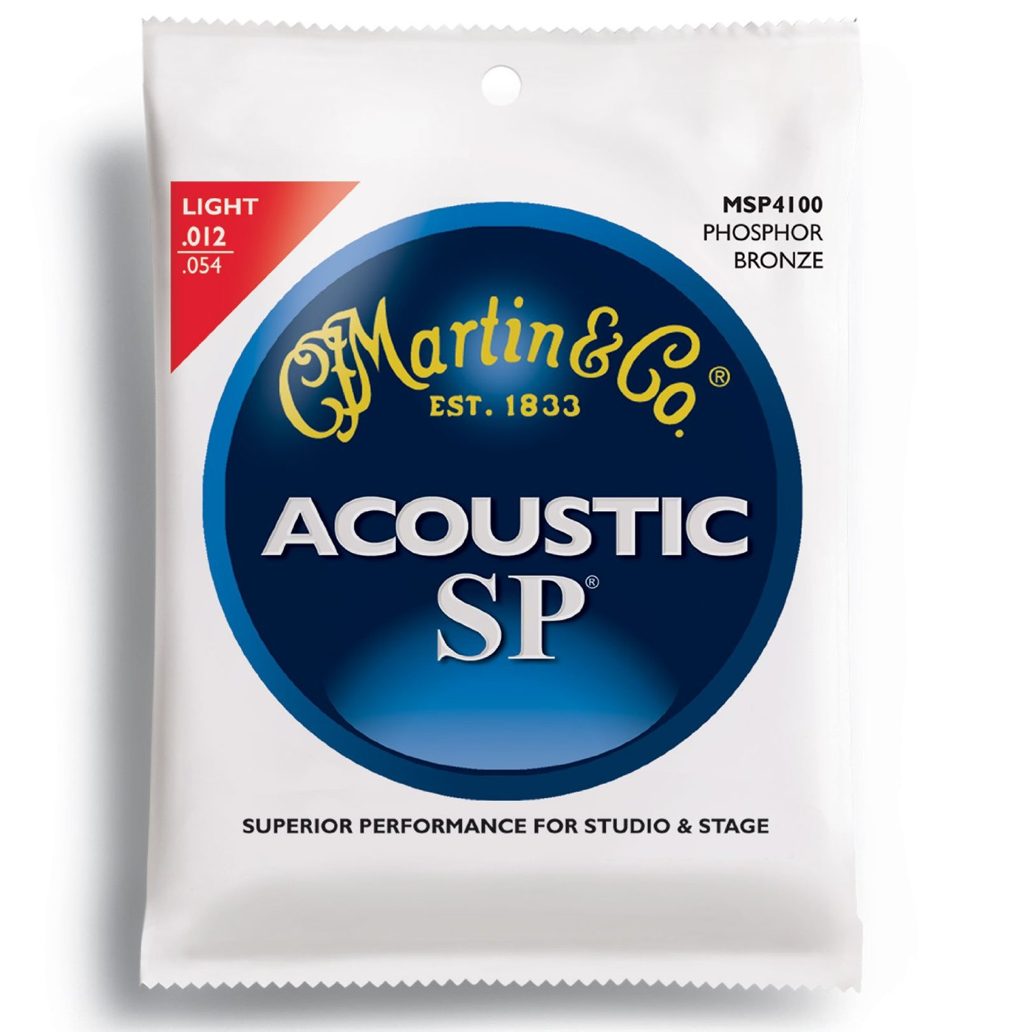 Martin MSP4100 SP Phosphor Bronze Acoustic Guitar Strings