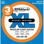 D'Addario EXL110-3D Electric Guitar Strings