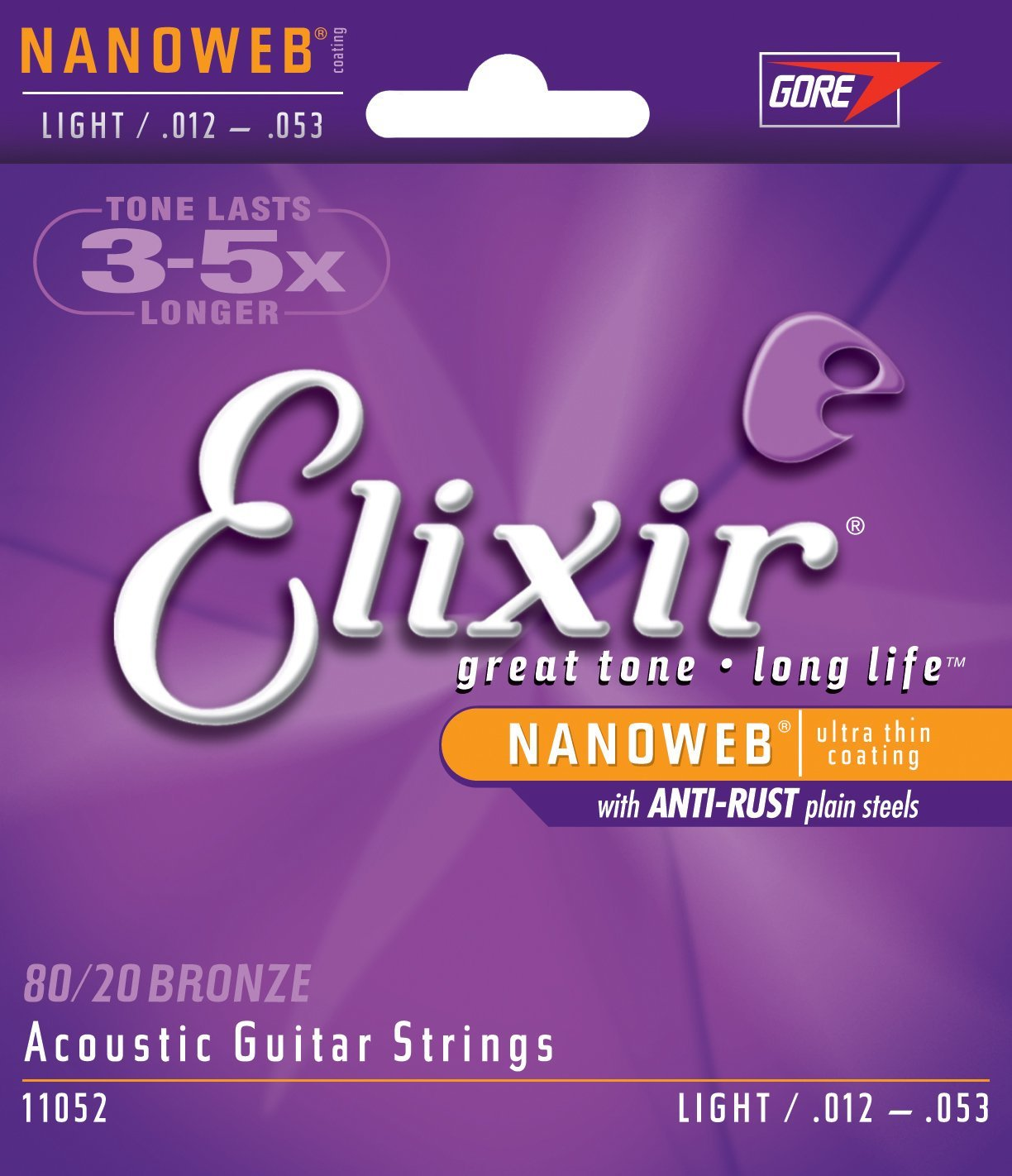 elixir acoustic strings nanoweb