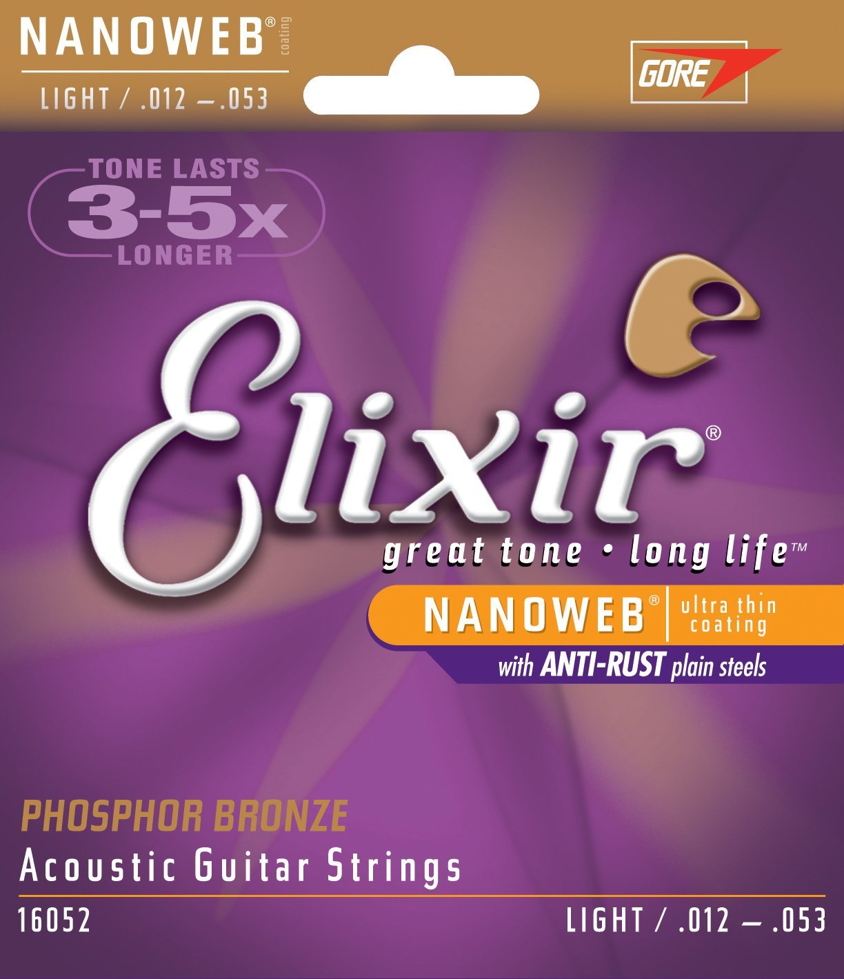Elixir Strings Acoustic Phosphor Bronze Strings NANOWEB Coating