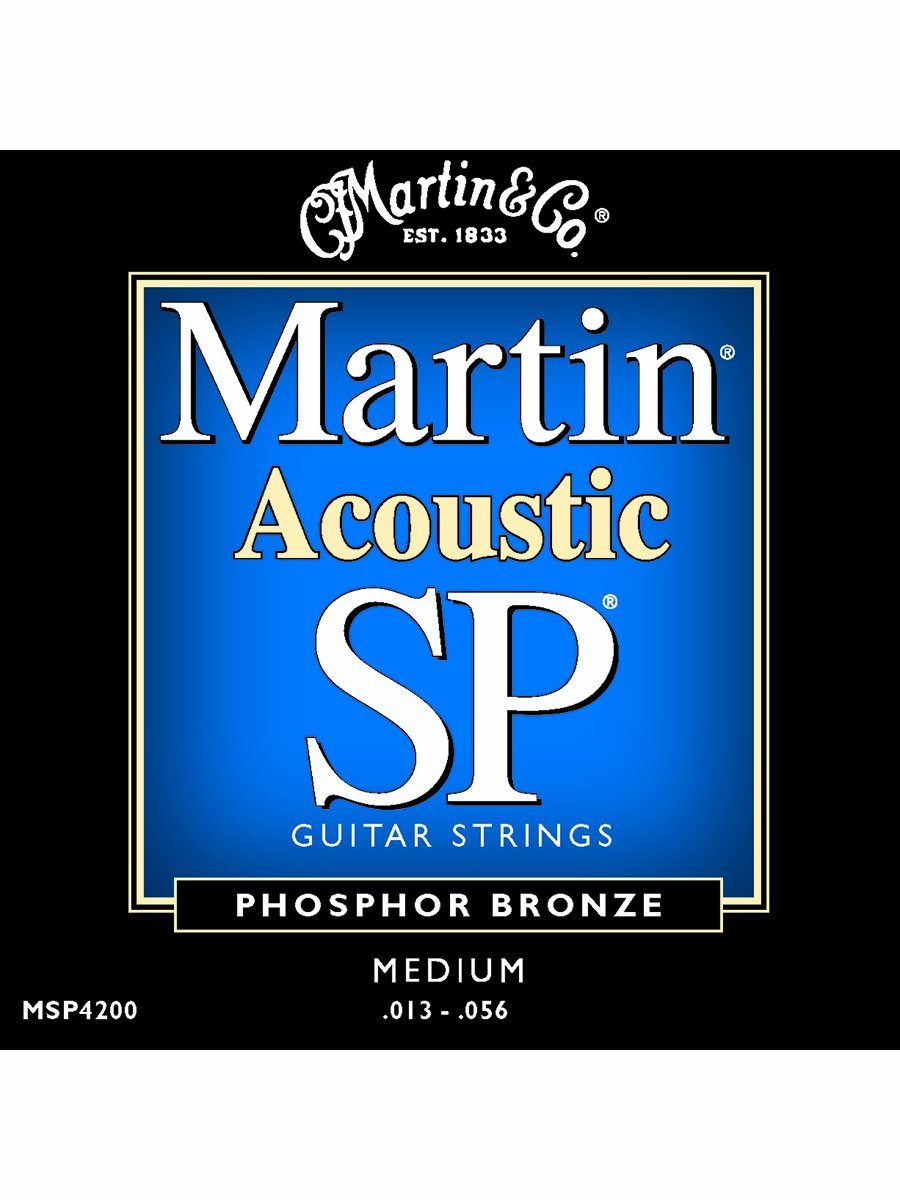 Martin MSP4200 SP Phosphor Bronze Acoustic Guitar Strings